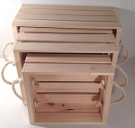 Lightweight Nesting Crates with Rope Handles