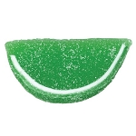 Lime Jelly Fruit Slices - 10lbs
