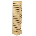 Maple Slatwall Rotating Tower