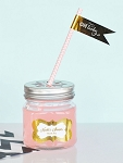 Metallic Foil Baby Mason Jar Glasses - 24ct