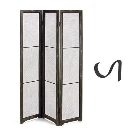 Mesh Tri-Panel JEWELRY Floor Display w/Hooks