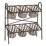 Metal 2-Tier Basket Display