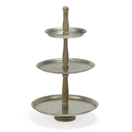 Metal 3 Tier Round Tabletop Tray, 3 Tier Round Display Table