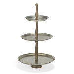 Metal 3-Tier Round Tabletop Tray Display
