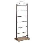 Metal Display Ladder With Wood Base Shelf