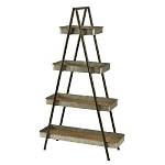 Metal Ladder A-frame 4 Shelf Display