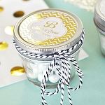 Small Wedding Metallic Foil Mason Jars - 24ct