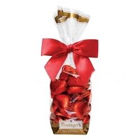 Milk Chocolate Foil Hearts Gift Bag - 12ct