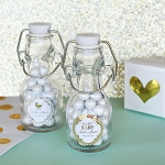 Metallic Foil Baby Mini Glass Bottles - 24ct