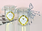 Metallic Foil Baby Mini Swing Top Glass Jars - 24ct