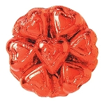 Red Foil Chocolate Hearts - 10lbs