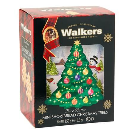 Mini Shortbread Christmas Trees Shortbread Cookies Xmas