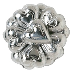 Silver Foil Chocolate Hearts - 10lbs