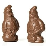 Mini Solid Milk Chocolate Santa - 20ct