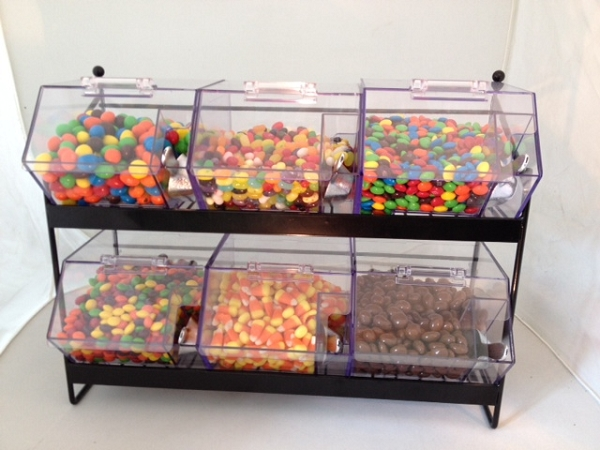 Mini Candy Bin Display Rack