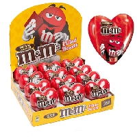 M&M Valentine Plastic Heart  - 12ct