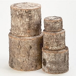 Natural Birch Wooden Risers - Set of 5