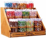 Old Fashioned Stick Candy Rack With 12  Jars