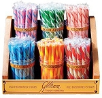 Old Fashioned Stick Candy 6 Jar Rack - Empty