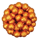 Orange Foil Chocolate Balls - 10lbs