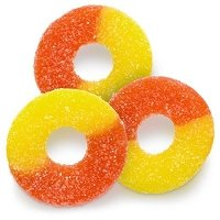Orange Peach Gummi Rings  - 4.5lbs