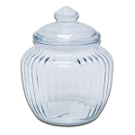 20 oz Optic Glass Canisters w/Lids - 6ct