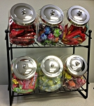 Penny Candy 6 Jar Rack