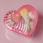 Pink Plastic Heart Containers - 36ct