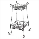 2 Tier Wire Basket Stand
