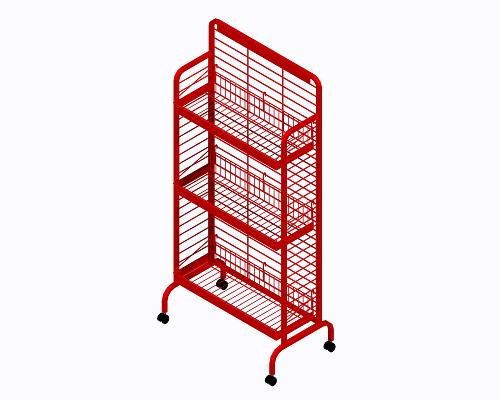 Red Premier Snack Rack Chip Display Rack Mobile Display
