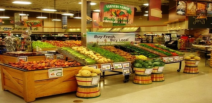 Produce Tables Fruit And Vegetable Displays Grocery