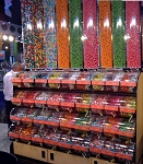 Queen Size Candy Display w/ Divided Bins -  6ft
