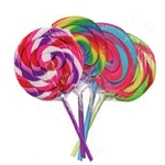 Rainbow Swirl Pops - 3.5 Inch - 288ct