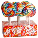 Rainbow Whirly Lollipops - 60ct