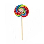 Rainbow Whirly Pop - 3oz - 48ct