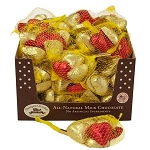Red & Gold Chocolate Hearts - 24ct