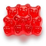 Red Wild Cherry Gummi Bears - 5lbs