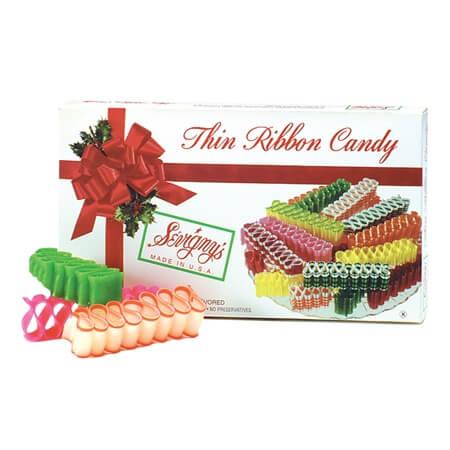 Ribbon Candy Box   Traditional Christmas Candy   Xmas