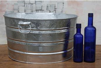 Round Galvanized Tub - 11 Gallon