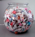 1 Gallon Round Plastic Fish Bowls - 12ct