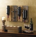 Rustic Wine Rack - Wall Mount