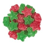 Sanded Red/Green Jelly Stars - 5lbs
