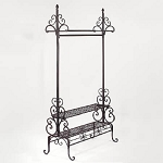 Scrolled Metal Clothing Rack - 2 Shelves