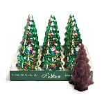 Christmas Tree Foil Semi Solid Chocolate - 12ct