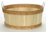Shallow Half Bushel Flat Bottom Baskets - 12ct