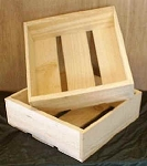 Shallow Pine Boxes - 15ct