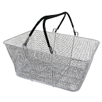 Silver Mesh Shopping Baskets - 12ct