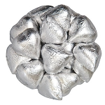 Silver Milk Chocolate Hearts - 10lbs