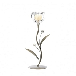 Single Crystal Flower Candle Holder