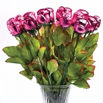 Single Pink Chocolate Roses - 36ct
